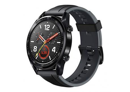Huawei Watch GT - Montre Connectée  GPS, Ecran AMOLED tactile, boitier Inox 46mm, autonomie jusquà 14 jours  avec Bracelet C