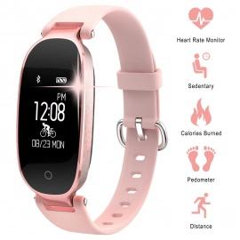 WOWGO Montre Connectée Bracelet Connecter Femme Fitness Tracker Connecté Podometre Smartwatch compatible avec les Android ios