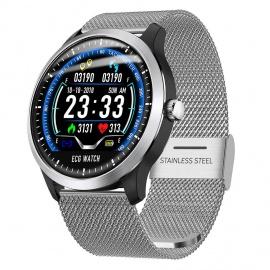Montre Connectée, Fulltime® N58 1.22Inch Affichage ECG Pression Artérielle Moniteur Cardiofréquencemètre Smart Watch Bracelet