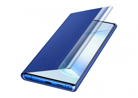 Samsung Clear View Cover Bleu Galaxy Note 10+