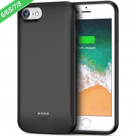 FLYLINKTECH 6000mAh Coque Batterie pour iPhone 6/7/6s/8, Batterie Externe Rechargeable Chargeur Batterie et Etui Téléphone Po