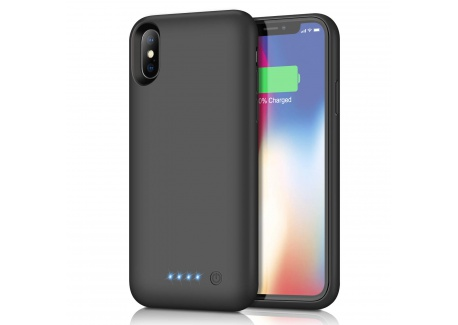 Kilponen Coque Batterie pour iPhone X XS 10, [6500mAh] Rechargeable Chargeur Batterie Externe Mince Power Bank Portable Étui