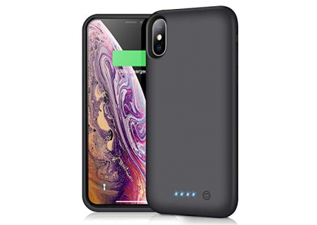 iPosible Coque Batterie pour iPhone X/XS 6500mAh[2019 Version Durable] Coque Rechargeable pour iPhone X/XS Chargeur Portable