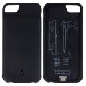 Batterie Coque pour iPhone 6, 4500mAh Batterie Externe Chargeur Coque en Silicone Doux Soft Batterie de Secours Recharge Rapi