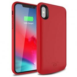 """Coque Batterie pour iPhone X XS 10 4000 mAh Rouge Coque de Chargement Rechargeable pour iPhone XS X 10  5,8""""  Batterie de Sec"""