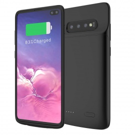 Samsung Galaxy S10 Plus Coque Batterie, 5000mAh Rechargeable Externe Chargeur de Batterie Power Bank Coques dalimentation Ul
