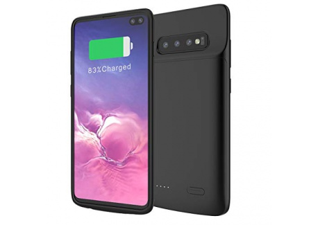Samsung Galaxy S10 Plus Coque Batterie, 5000mAh Rechargeable Externe Chargeur de Batterie Power Bank Coques dalimentation Ul