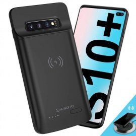 Coque Batterie pour Samsung Galaxy S10 Plus, 5000mAh Rechargeable Chargeur Batterie Externe Mince Power Bank Portable Étui Ba
