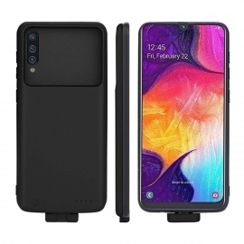 Compatible avec Samsung Galaxy A50 Coque Batterie, 7000mAh Portable Chargeur de Batterie Externe Rechargeable Power Banque Co