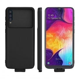 Compatible avec Samsung Galaxy A50 Coque Batterie, 7000mAh Portable Chargeur de Batterie Externe Rechargeable Power Banque Co