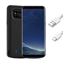 FUNROSE Galaxy S8 Coque Batterie,5000mAh Portable Batterie Chargeur Externe Puissante Rechargeable Power Bank Coque Batterie