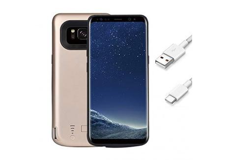 FUNROSE Galaxy S8 Coque Batterie,5000mAh Portable Batterie Chargeur Externe Puissante Rechargeable Power Bank Coque Batterie