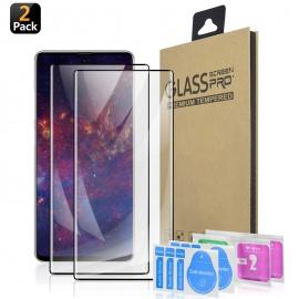 Protection décran Ecran Verre Trempé Galaxy Note 10 [HD Clear] [sans Bulles] [Anti-Rayures] [Adapté aux Étuis] Film