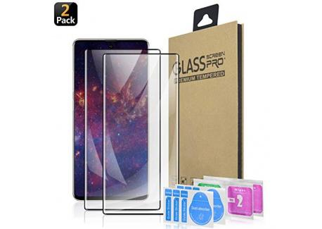 SQMCase Galaxy Note 10 Protection décran Ecran Verre Trempé, [HD Clear] [sans Bulles] [Anti-Rayures] [Adapté aux Étuis] Film