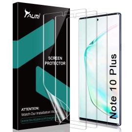 Protection Écran pour Samsung Galaxy Note 10 Plus/Note 10+ 5G HD Clair Doux TPU Film Lot de 3