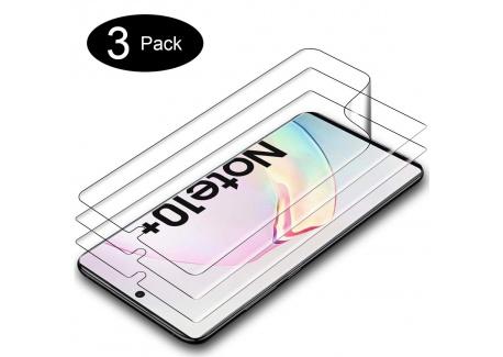 A-VIDET Protection écran pour Samsung Galaxy Note 10+/Samsung Galaxy Note 10 Plus Ultra Clair Anti-Rayures Pet Écran Protecte