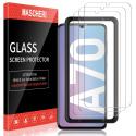 Verre Trempé pour Samsung Galaxy A70, protégé écran [3 pièces] [Cadre de positionnement ] Film ecran de Protection é