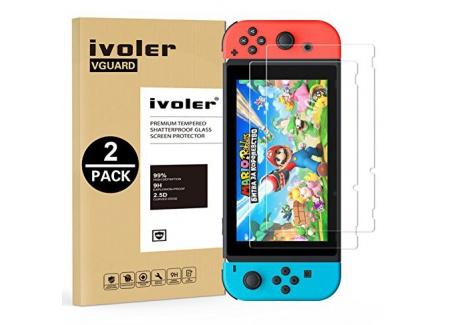 iVoler [Lot de 2] Verre Trempé pour Nintendo Switch [Garantie à Vie], Film Protection en Verre trempé écran Protecteur pour N