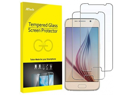 JETech Film de Protection décran pour Samsung Galaxy S6 en Verre Trempé, Lot de 2