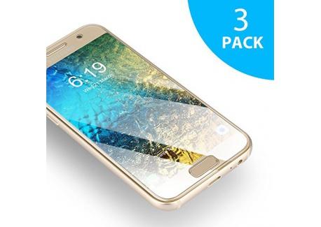 Verre Trempé Samsung Galaxy A3 2017 SUERW [3-Pack] Vitre Film Protection décran Pour Samsung Galaxy A3 2017  0.33mm, 9H Dure
