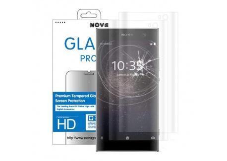 Novago Compatible avec Sony XA2- Pack de 2 Films Protection écran en Verre trempé incurvé 3D protège la totalité de lécran
