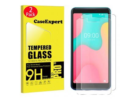 CaseExpert 2 Pack - Wiko Y60 Verre Trempé, Vitre Protection Film de Protecteur décran Glass Film Tempered Glass Screen Prote