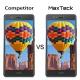 MaxTeck [3 Pièces] Verre Trempé Huawei P9 Lite, Film Protection en Verre trempé écran Protecteur Vitre- Anti Rayures - sans B