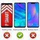 ANEWSIR Verre Trempé pour Huawei P Smart 2019/Huawei P Smart Plus 2019, Protection Décran, Film Protection 9H Dureté, Instal
