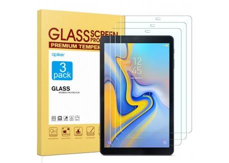 apiker Lot de 3 Compatible pour Verre Trempé Samsung Galaxy Tab A 10.5 2018, Film Protection décran Samsung Galaxy Tab A 10.