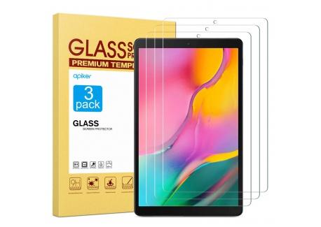 apiker Lot de 3 Verre Trempé Compatible pour Samsung Galaxy Tab A 10.1 2019  T515/T510 , Durabilité Exceptionnelle, Protectio