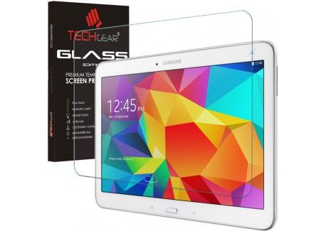 """TECHGEAR® Galaxy Tab 4 10.1 Verre, Protecteur dÉcran Original en Verre Trempé Compatible pour Samsung Galaxy Tab 4 10.1""""  Sé"""
