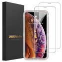 Protection écran  iPhone XS [2 Pièces] Verre trempé Ultra résistant