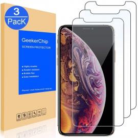 Protection écran iPhone X/10/XS [3 pièces] Protection écran Vitre Film Protection pour iPhone