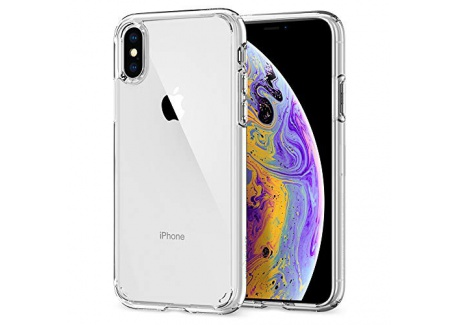 Spigen Coque iPhone X, Coque iPhone XS [Ultra Hybrid] Transparente, Protection Coin AIR Cushion, Bumper Renforcé en Silicone,