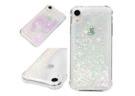 Coque iphone XR 6.1 Pouces, LaVibe Étui Gel Silicone TPU Quick Sand Glitter Transparant Protecteur Housse Anti-Rayures Pare-C