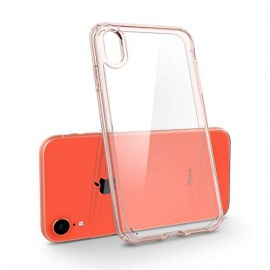 Coque iPhone XR [Ultra Hybrid] Rose, Protection Coin AIR Cushion, Bumper Renforcé en Silicone, Dos Rigide en PC Compat