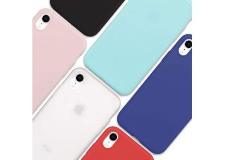 Wanxideng - 6x Coque pour iPhone XR, Housse Souple en TPU Silicone, Soft Silicone Case Cover [ Noir + Blanc Translucide + Rou