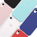 Coque iPhone XR Souple Silicone, Noir + Blanc Translucide