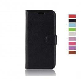 Coque DoogeeY8, Housse en Cuir Premium Flip Case Portefeuille Etui pour DoogeeY8 Smartphone -Noir