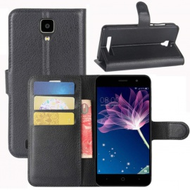 Coque Doogee X10, Etui Housse à Rabat en PU Cuir Flip Leather Case Cover Antichoc Portefeuille Protection Stand Coqu