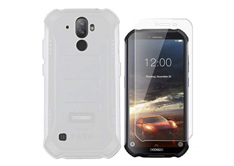 """QFSM Opaque Coque pour DOOGEE S40  5.5""""  Étui Silicone Givré Translucide Housse Shell Protection Case Cover + 1 Pack Gratuit"""