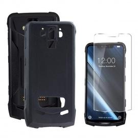 """Coque DOOGEE S90  6.18""""  Étui Silicone Givré Housse Shell Protection Case Cover + 1 Pack Gratuit Verre trempé"""