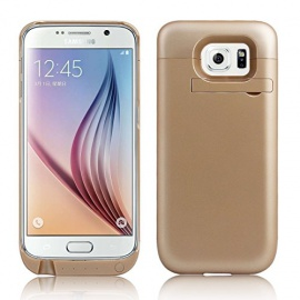 Coque Batterie Samsung Galaxy S6 Edge G9250 4500mAh Ultra-Fin  Rechargeable Or