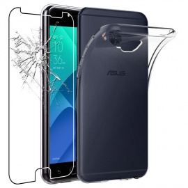 Coque ASUS Zenfone 4 Selfie Pro ZD552KL Etui Housse Silicone Gel Anti-Choc Ultra Fine Invisible, Transparent + Fi