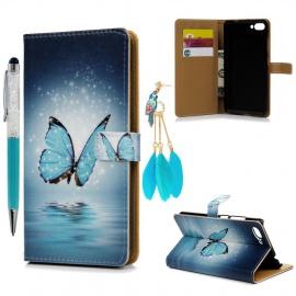 Coque Asus Zenfone 4 Max ZC 554KL 5.5 Pouce Etui Protecteur en Cuir PU avec TPU Silicone Housse avec Stand Support et Carte d