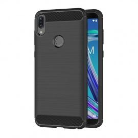 Coque ASUS Zenfone Max Pro  M1  ZB601KL, Noir Silicone Coque pour ASUS Zenfone Max Pro  M1  Housse Fibre de Carbone Etu