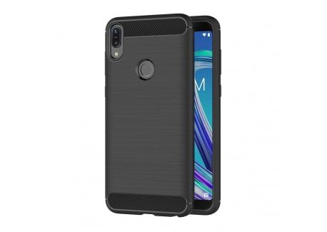 AICEK Coque ASUS Zenfone Max Pro  M1  ZB601KL, Noir Silicone Coque pour ASUS Zenfone Max Pro  M1  Housse Fibre de Carbone Etu
