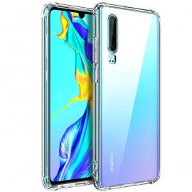 Coque Huawei P30, Etui Transparent Silicone TPU Souple