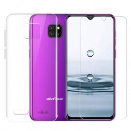 Coque Ulefone Note 7 2019 Coque + Verre trempé écran Film Protecteur - Transparent Souple Silicone Étui Protection Housse