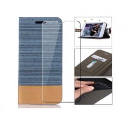 Coque Ulefone Note 7P Coque Flip Cuir Housse TPU Portefeuille Cover Cas Protecteur Case + 1X Film Protection Écran